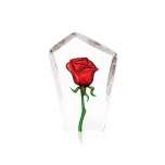 Mats Jonasson Crystal - FLORAL FANTASY Red Rose by Robert Ljubez - 33871