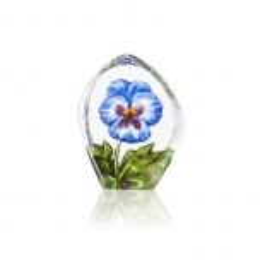 Mats Jonasson Crystal - FLORAL FANTASY Pensée blue - 34216