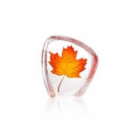 Mats Jonasson Crystal - GLOBAL ICONS Maple Leaf orange by Robert Ljubez - 34207