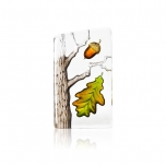Mats Jonasson Crystal - GLOBAL ICONS Oak small by Robert Ljubez - 34236