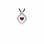 Mats Jonasson Jewellery - GLOBAL ICONS in CRYSTAL - Necklace Heart - 84115