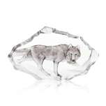 Mats Jonasson Crystal - LIMITED EDITION - WILDLIFE PAINTED - Wolf - 33905