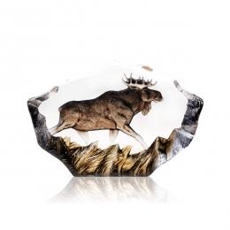 Mats Jonasson Crystal - LIMITED EDITION - WILDLIFE PAINTED - Moose - 33950