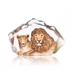 Mats Jonasson Crystal - LIMITED EDITION - WILDLIFE The Big Five - Lion & Lioness - 34112