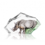 Mats Jonasson Crystal - LIMITED EDITION - WILDLIFE The Big Five - Rhino - 34115