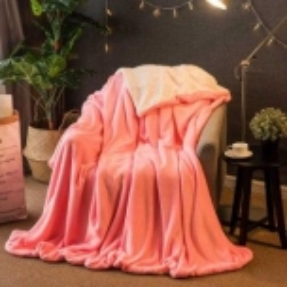Lamb Fur Imitation Home Bedding Blanket-pink-120x100cm
