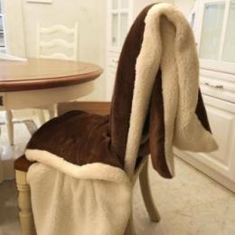 Lamb Fur Imitation Home Bedding Blanket-brown-200x230cm