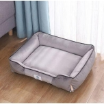 Pet Bed-Rectangular Cushion- Machine Washable-Improved Sleep for Pets-grey-50x40x16 cm