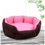 Cat Dog Bed-Sleeping Nest for small pet-Short Flannel-Washable-Cushion-pink