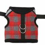 Pet Puppy Dog Cat Harness Vest with Reflective stripe - red M