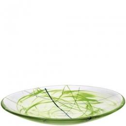 CONTRAST Platter Lime by Anna Ehrner - Ø 380 mm - Kosta Boda  - 7070613