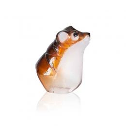 Mats Jonasson Crystal - Safari Sculptures - Curious Mouse painted crystal, small - 34246
