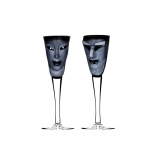 MASQ TABLEWARE Schnapps 2-pack Black