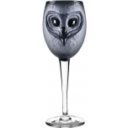 Mats Jonasson Crystal - STRIX wine glass Owl, black - 42038