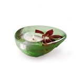 Mats Jonasson Crystal - Handmade CANDLEHOLDER Flora - 69014