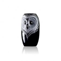 Mats Jonasson Crystal - STRIX Owl vase, small - 44118