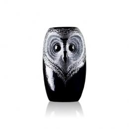 Mats Jonasson Crystal - STRIX Owl vase, large - 44119