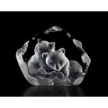 Mats Jonasson Crystal - WILDLIFE - Bear cubs - 33397
