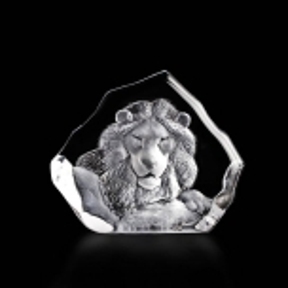 Mats Jonasson Crystal - WILDLIFE Lion - 33781