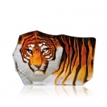 Mats Jonasson Crystal - WILDLIFE PAINTED - Tiger - 33851