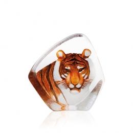 Mats Jonasson Crystal - WILDLIFE PAINTED - Tiger - 33861