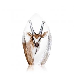 Mats Jonasson Crystal - WILDLIFE PAINTED - Antelope - 33864