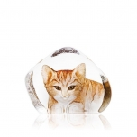 Mats Jonasson Crystal - WILDLIFE PAINTED - Cat - 33868