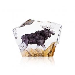 Mats Jonasson Crystal - WILDLIFE PAINTED - Moose - 33888