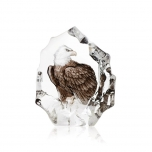 Mats Jonasson Crystal - WILDLIFE PAINTED - Northern Bald Eagle - 33893