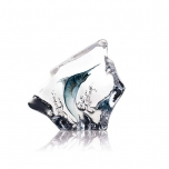 Mats Jonasson Crystal - WILDLIFE PAINTED - Blue Marlin - 33954