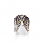 Mats Jonasson Crystal - WILDLIFE PAINTED - Owl small - 34104