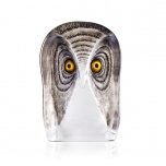 Mats Jonasson Crystal - WILDLIFE PAINTED - Owl large - 34106