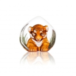 Mats Jonasson Crystal - WILDLIFE PAINTED - Tiger cub - 34174