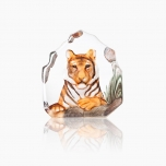 Mats Jonasson Crystal - WILDLIFE PAINTED - Tiger - 34175