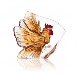 Mats Jonasson Crystal - WILDLIFE PAINTED - Rooster - 34179