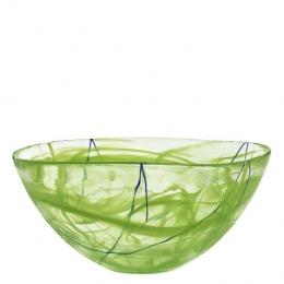CONTRAST Bowl Lime by Anna Ehrner - Ø 350 mm - Kosta Boda  - 7050514