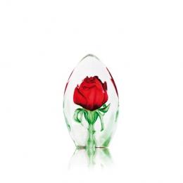 Mats Jonasson Crystal - FLORAL FANTASY Rose small - 33837