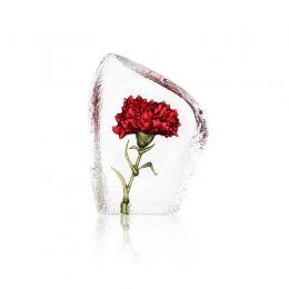 Mats Jonasson Crystal - FLORAL FANTASY Carnation deep red - 34088