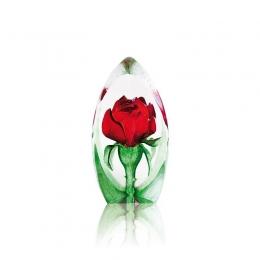 Mats Jonasson Crystal - FLORAL FANTASY MINIATURE Rose - 88150