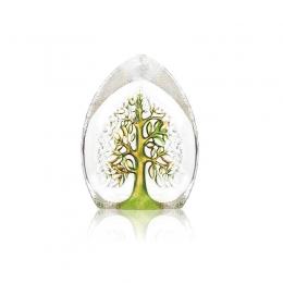Mats Jonasson Crystal - NORDIC ICONS Yggdrasil small green - 33981