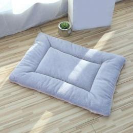 Small Pet-Dog Cat-Rectangular Cushion-Mat- Machine Washable-grey-46x33 cm