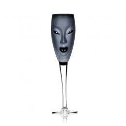Mats Jonasson - MASQ Stemware Electra Champagne black - 42036