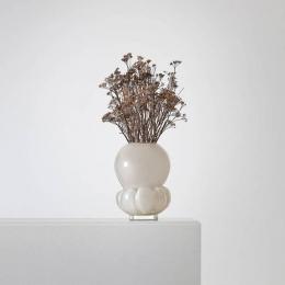 Målerås Crystal - PADAM Greige Vase by Anna Kraitz - 44136