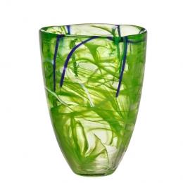 CONTRAST Vase Lime by Anna Ehrner - Kosta Boda  - 7041013