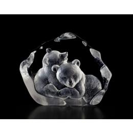 Mats Jonasson Crystal - WILDLIFE - Bear cubs - 33397
