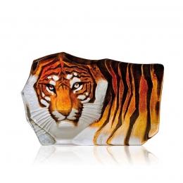 Mats Jonasson Crystal - WILDLIFE PAINTED - Tiger - 33851