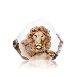 Mats Jonasson Crystal - WILDLIFE PAINTED Lion - 33906